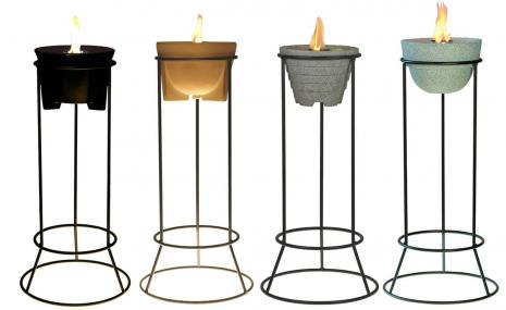 Powder-coated Steel Stand for all Outdoor Waxburners