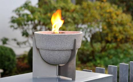 Outdoor Waxburner L Granicium® with Lid