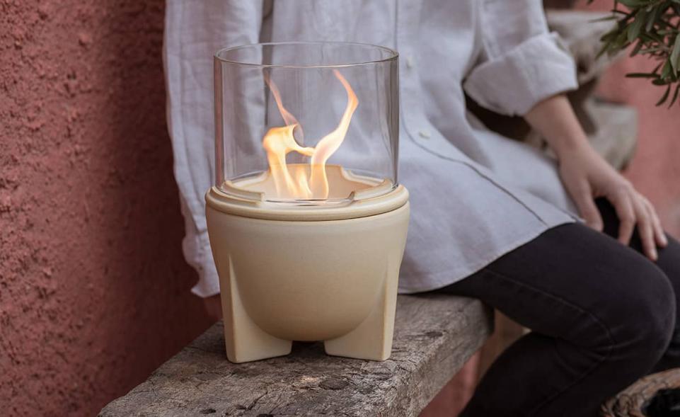 Smeltvuur® Outdoor CeraNatur® met lichtglas-set