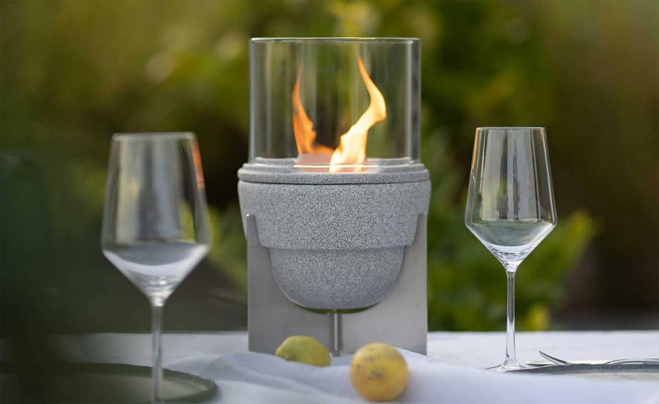 Schmelzfeuer® Outdoor L Granicium® mit Lichtglas-Aufsatz