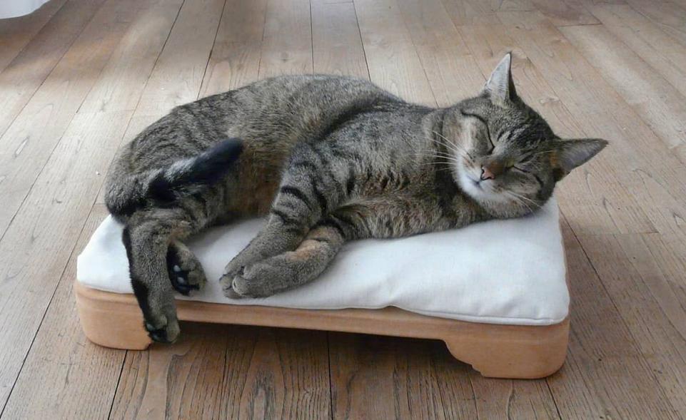 Minkas-Kachelofen - das elektrisch beheizte Katzenbett