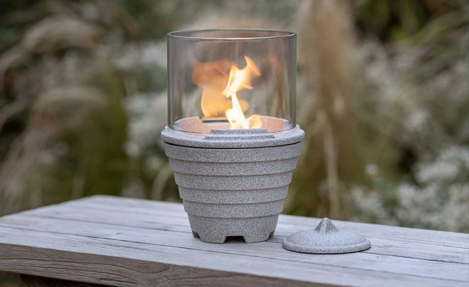 Schmelzfeuer® Outdoor Granicium® mit Lichtglas-Aufsatz