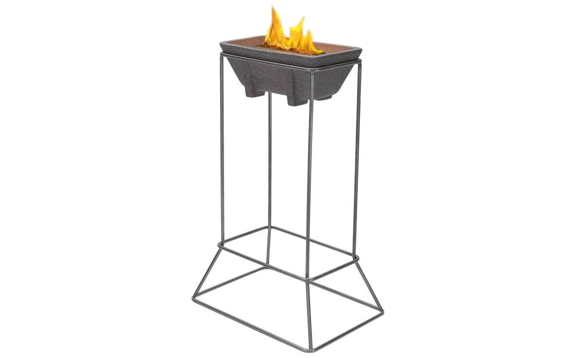 st nder edelstahl f r schmelzfeuer outdoor xl denk keramik. Black Bedroom Furniture Sets. Home Design Ideas