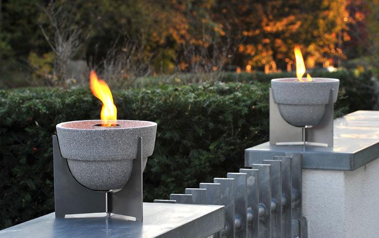 Schmelzfeuer Outdoor L Granicium® mit Deckel | DENK