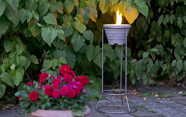 Ständer Edelstahl für Schmelzfeuer Outdoor | DENK Keramik