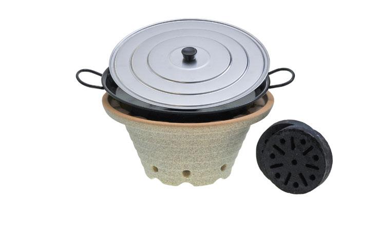 bratfeuer der blitzschnelle outdoor herd denk keramik. Black Bedroom Furniture Sets. Home Design Ideas